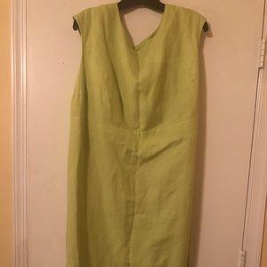 Women's linen blend sheath dress - Size 18
